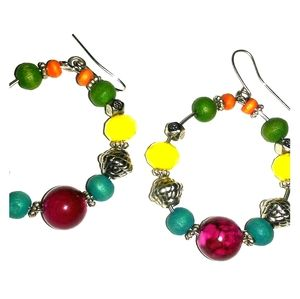 Beaded hoops 1 for $8/2 for $14